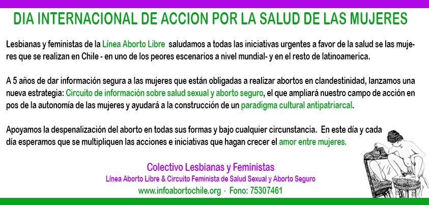 en el día de acción por la salud amor e información entre mujeres